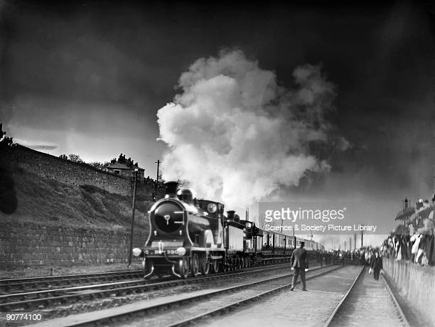 The Royal Train pulled by a 440 locomotive number 390 carrying Queen Victoria from Balmoral to Windsor Castle This was the last train journey that...