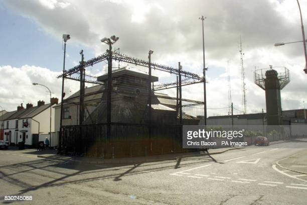 The Royal Ulster Constabulary base at Crossmaglen Co Armagh The police station is considered one of the most heavily fortified in Europe