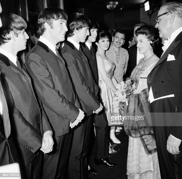 The Royal Variety Performance 4th November 1963 Princess Margaret is introduced to The Beatles, 4th November 1963.