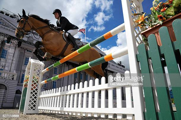 The Royal Windsor Horse Show Windsor Great Park UK The Land Rover Jumping Competition