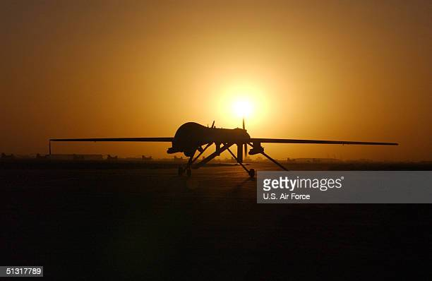 The RQ1 Preditor taxi's in after one of its sorties September 15 2004 in Balad Air Base Iraq The RQ1is a mediumaltitude longendurance unmanned aerial...