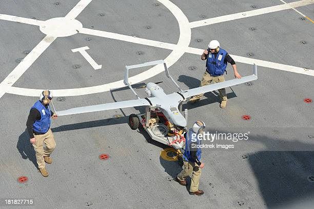 the rq-21a small tactical unmanned air system. - military drones stock photos and pictures