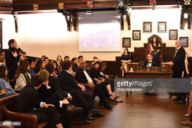 The Rt Hon Andrew Mitchell MP addresses new students at The Cambridge Union on October 5 2017 in Cambridge Cambridgeshire