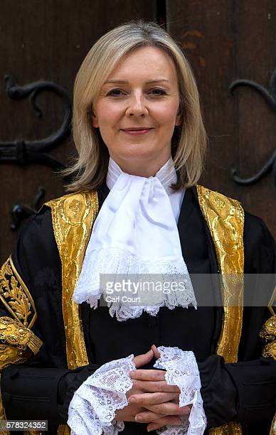 The Rt Hon Elizabeth Truss MP at the Royal Courts of Justice Strand on July 21 2016 in London England Liz Truss has been sworn in as Lord Chancellor...