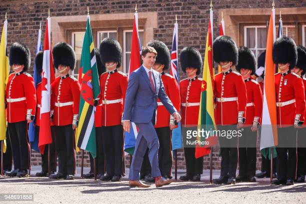 The Rt Hon Justin Trudeau of Canada arriving to the Executive Session of the Commonwealth Heads of Government in London England April 19 2018