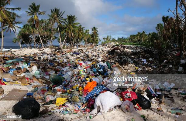 The rubbish tip at the north end of the mainland on August 15 2018 in Funafuti Tuvalu The small South Pacific island nation of Tuvalu is striving to...