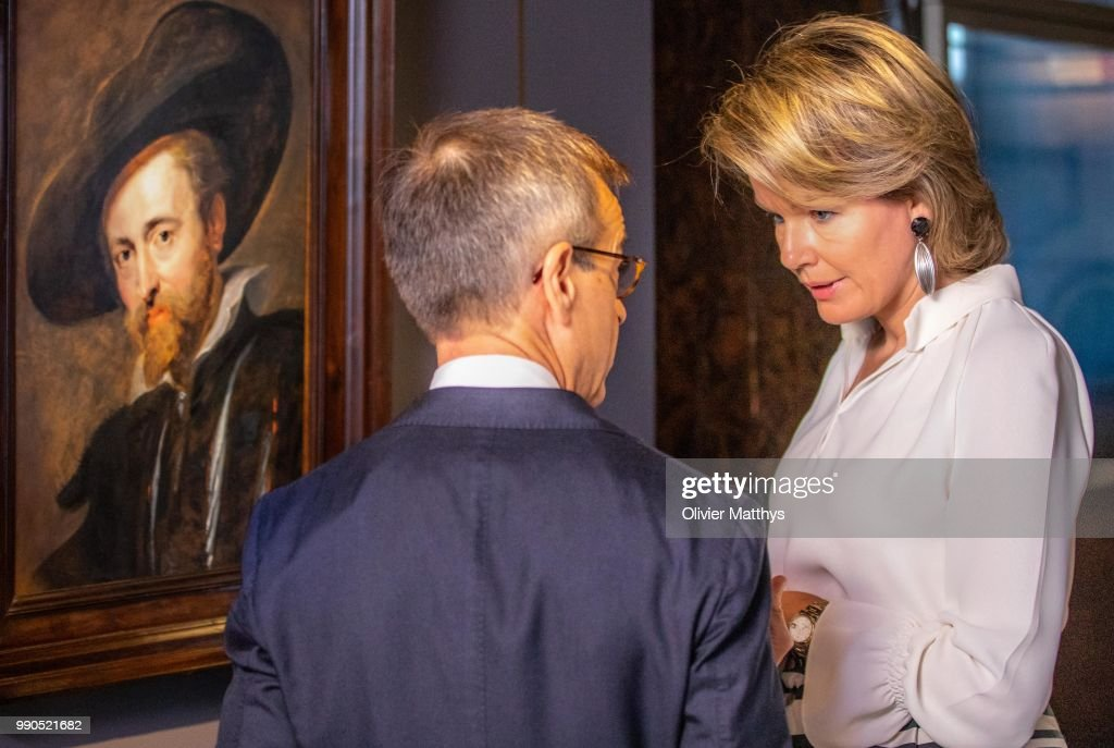 "Queen Mathilde Of Belgium visits Rubens ""The Master Lives"" In Antwerpen"