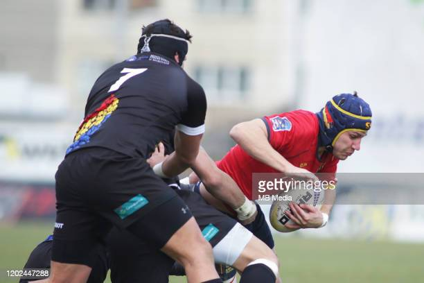 The Rugby Europe International Championship round three match between Romania and Spain at Botosani Municipal Stadium on February 22, 2020 in...