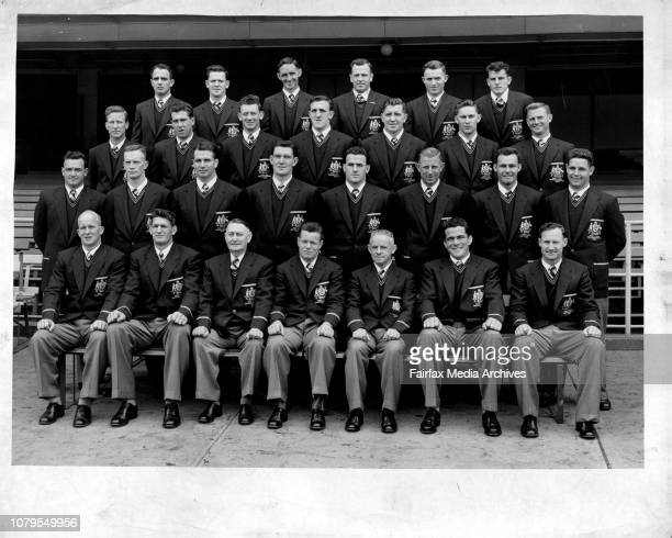 The Rugby League Touring team for England September 29 1956