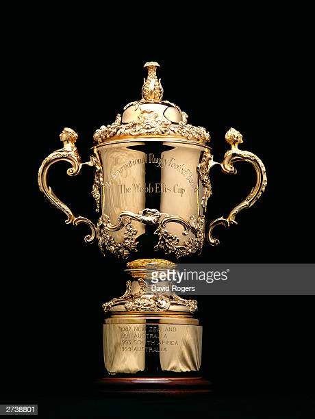 The Rugby World Cup Trophy during a photo shoot on March 5, 2003 in London, England.