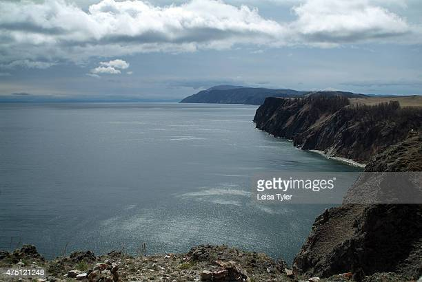 The rugged cliffs of Olkhon island the largest island in Lake Baikal Known as the soul of Siberia Lake Baikal was formed after a unique geographical...