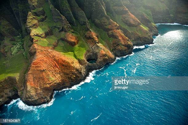 The rugged Napali Coastline of Kauai, Hawaii