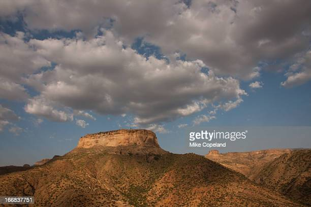 The rugged sandstone mountains around Adwa in Tigray Province, Northern Ethiopia is where the forces of Emperor Menelik II of Abyssinia defeated the Italian army in 1896.
