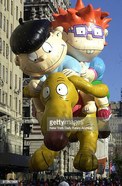 The Rugrats balloon floats down Broadway during the 74th annual Macy's Thanksgiving Day Parade