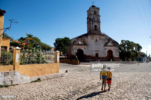 The ruined Iglesia de Santa Ana of Trinidad, Cuba
