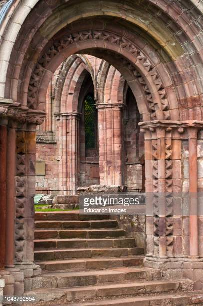 The ruined medieval architecture of Dryburgh Abbey in the Scottish borders Dryburgh Scotland