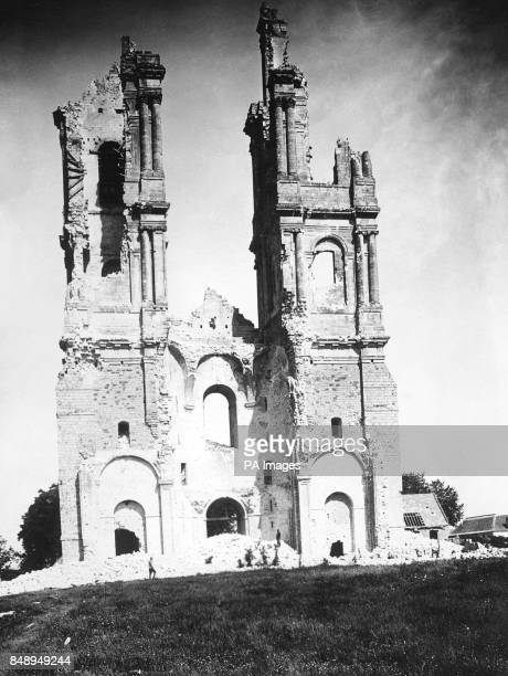 The ruined tower of MontSaintEloi in France