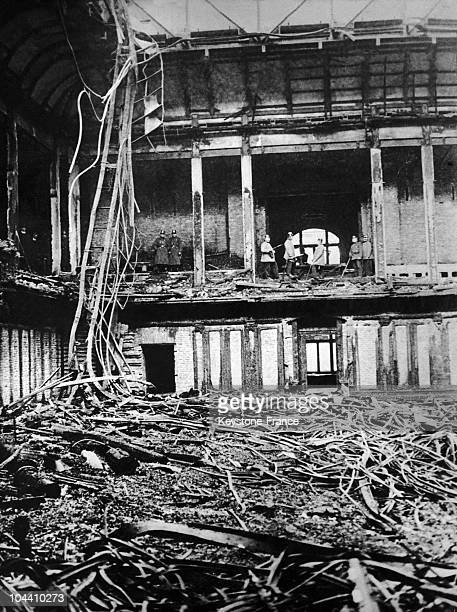 The ruins after the burning of the Reichstag in Berlin which occured in the night from February 27 to 28 1933