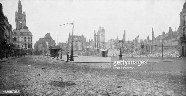 The ruins and bell tower of Douai France 1918 The British captured Douai which had been occupied by the Germans since 1914 on 17 October 1918