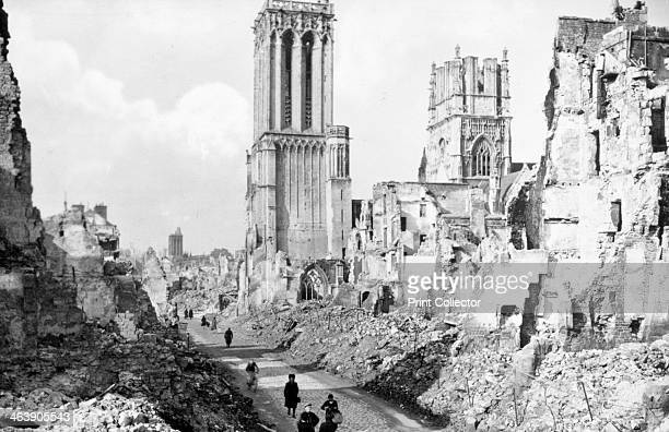 The ruins and cathedral of Caen Normandy France c1944 The Battle of Caen from June to August 1944 was crucial to the Allied effort to break out from...
