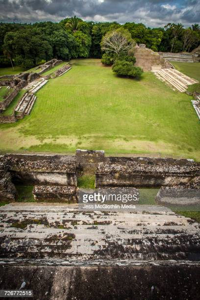 the ruins of altun-ha, belize - mayans m.c stock photos and pictures