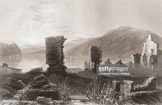 The Ruins Of Fort Ticonderoga New York United States Of America In The Early 19Th Century From The History Of England Published 1859