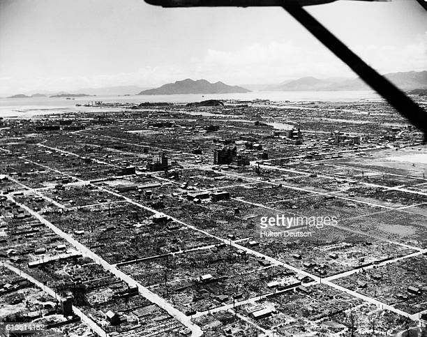 The ruins of Hiroshima after the first atomic bombing