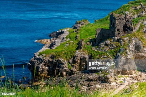 The ruins of Kinbane Castle