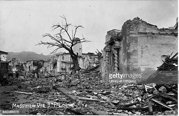 The ruins of Messina Italy after a huge earthquake in 1908