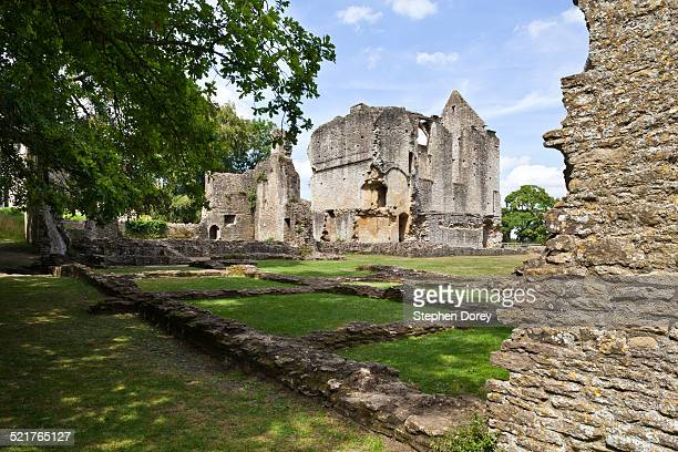 the ruins of minster lovell hall, oxfordshire - minster stock photos and pictures