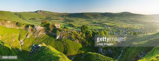 The ruins of Peveril Castle built in the 12th century by Henry ll in the Peak District National Park