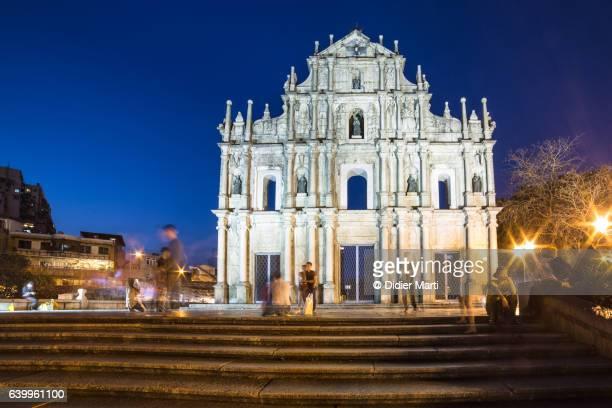 The ruins of St Paul church in Macau