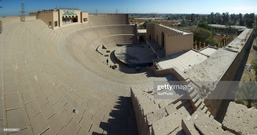 The ruins of the ancient city of Babylon : News Photo