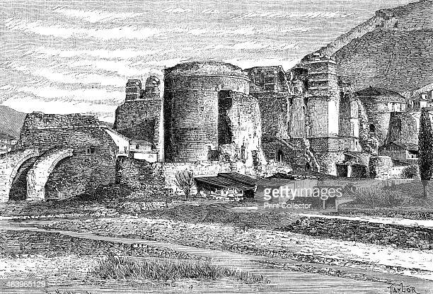 The ruins of the basilica at Pergamon, Turkey, 1895. From The Universal Geography with Illustrations and Maps, division XVII, written by Elisee...