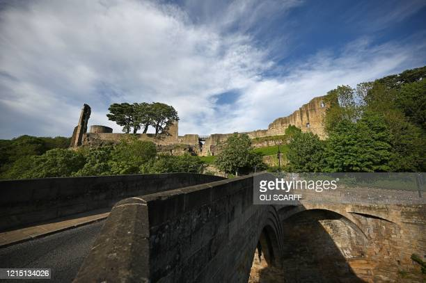 The ruins of the castle are pictured at Barnard Castle less than 30 miles southwest of Durham north east England on May 25 a popular tourist village...