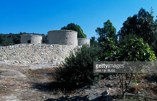 The ruins of the Choirokoitia Neolithic settlement Cyprus