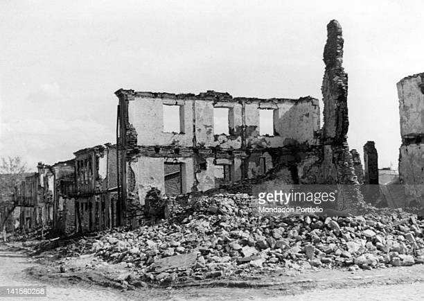 The ruins of the city of Balta Bessarabia that has just been occupied by Romanian troops Balta July 1941
