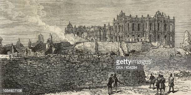 The ruins of the Court House after the Great Chicago Fire United States of America engraving from The Illustrated London News No 1679 November 18 1871