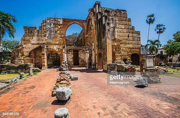 the ruins of the hospital san nicolás de bari - santo domingo dominican republic stock pictures, royalty-free photos & images