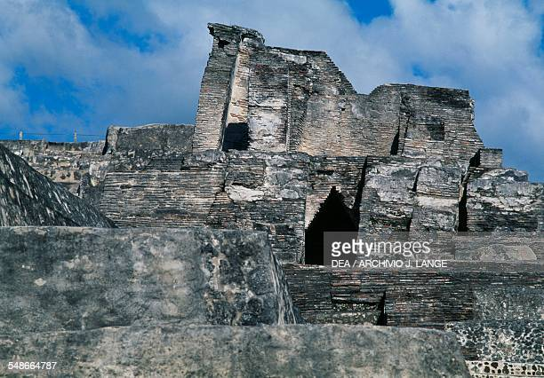 The ruins of the Palace on the Acropolis, Comalcalco, Tabasco, Mexico. Mayan civilisation, 6th-10th century.