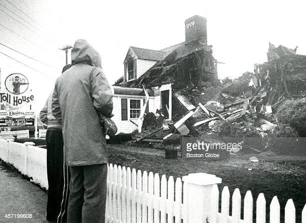 The ruins of the Toll House restaurant in Whitman after a devastating fire that broke out on New Year's Eve 1984 Ruth Wakefield invented the...