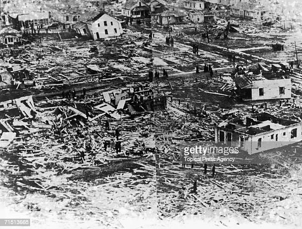 The ruins of the town of West Frankfort Illinois in the wake of the Great TriState Tornado March 1925