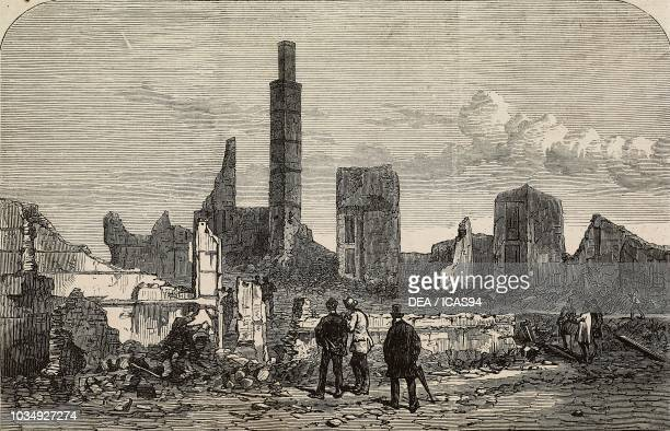 The ruins of the Tremont House after the Great Chicago Fire, United States of America, engraving from The Illustrated London News, No 1679, November...