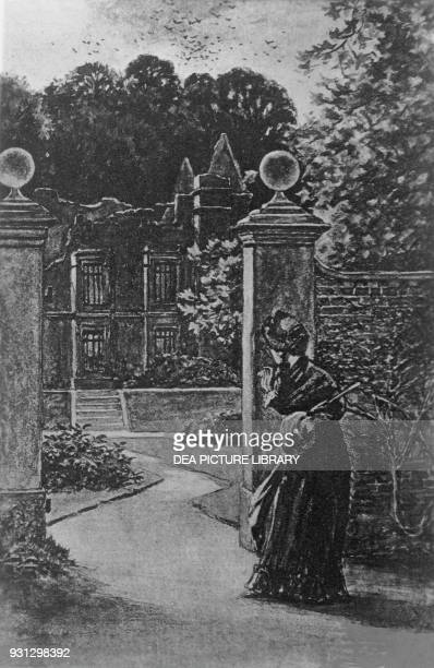 The ruins of Thornfield Hall Chapter XXXVI illustration by H S Greig for Jane Eyre Bildungsroman by Charlotte Bronte published by J M Dent and...