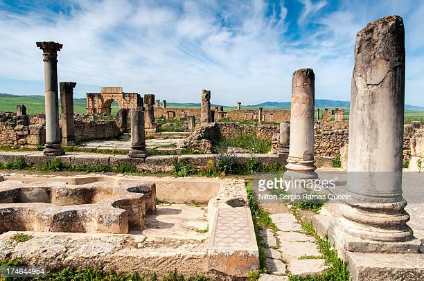 The ruins of Volubilis, a Roman city in Morocco near Meknes dating from the 3rd century BC.