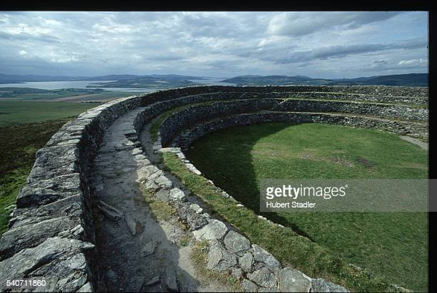 The ruins of walls of the Grianan of Aileach