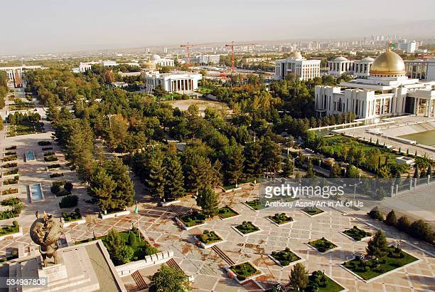 The Rukhiyet Palace, hosting the Halk Maslahaty or the People's Council of Turkmenistan, the highest representative body in Turkmenistan, with its...