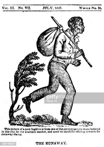 The Runaway Wooden engraving used on handbills offering rewards to those who found fugitive slaves United States Washington Library of Congress