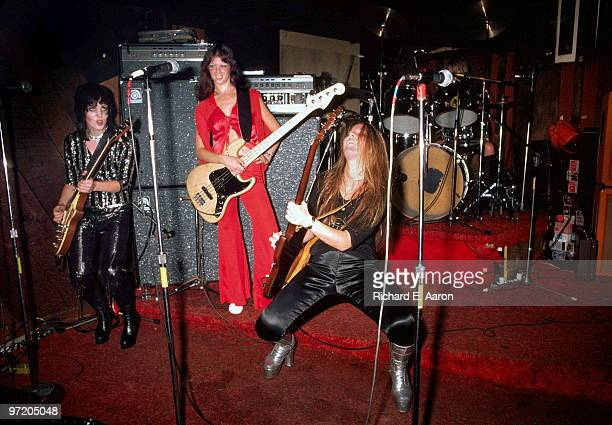 The Runaways perform live at CBGB's club in New York on August 02 1976 LR Joan Jett Jackie Fox Lita Ford Sandy West