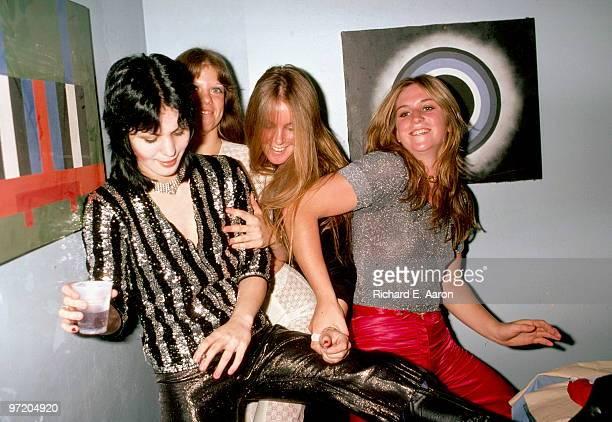 The Runaways posed backstage at CBGB's club in New York on August 02 1976 LR Joan Jett Jackie Fox Lita Ford Sandy West